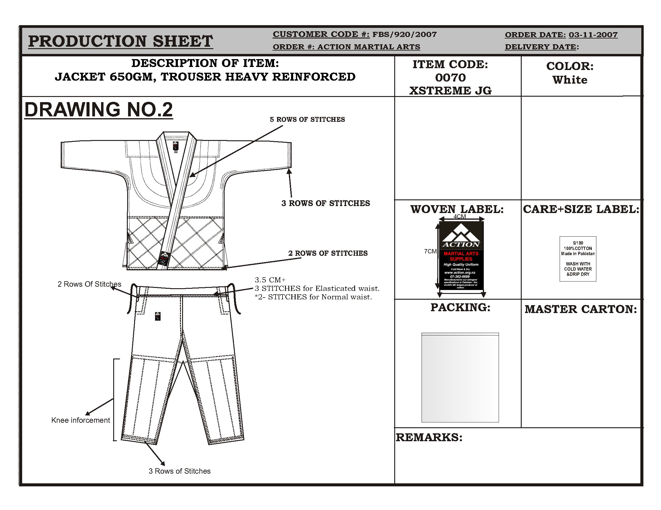 Action Uniform Product Drawings 920 07 Page 02