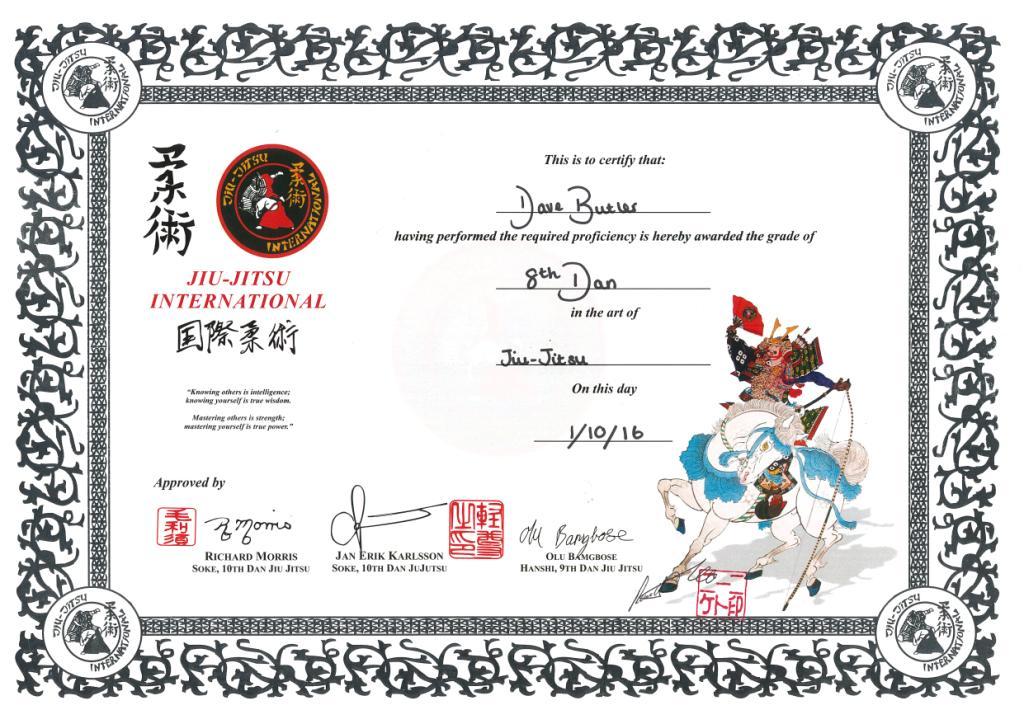 Jji 8th Dan Certificate Compressed Samurai Arts